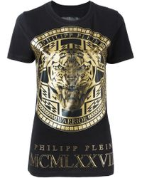 Philipp Plein - Black 'medallion' T-shirt - Lyst