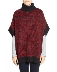 MICHAEL Michael Kors | Red Twill Stitch Poncho | Lyst