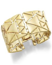 Lauren by Ralph Lauren | Metallic Gold-Tone Triangle Link Bracelet | Lyst