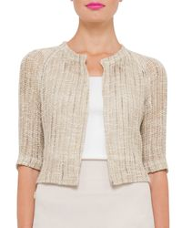 Akris - Natural Open-weave Raglan-sleeve Sweater - Lyst