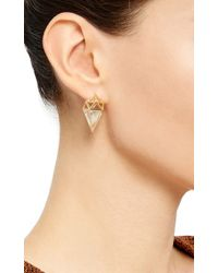Noor Fares | Metallic Deia Earrings | Lyst