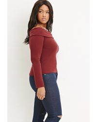 Forever 21 | Purple Plus Size Folded Off-the-shoulder Top | Lyst