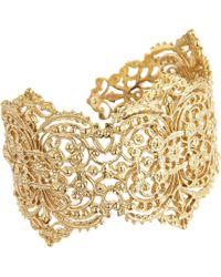 I Am Ileana Makri   Metallic Gold Large Filigree Cuff   Lyst