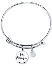 Disney - Metallic Cinderella Charm Bracelet In Stainless Steel - Lyst