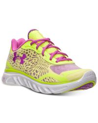 Under Armour | Yellow Women'S Spine Lazer Running Sneakers From Finish Line | Lyst