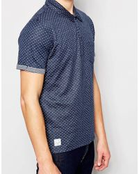 Native Youth | Blue Polka Dot Polo Shirt for Men | Lyst
