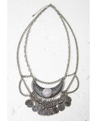 Forever 21 | Metallic Etched Crescent Medallion Necklace | Lyst