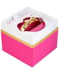 Betsey Johnson | Metallic Gold-tone Crystal Bow Bangle Bracelet | Lyst