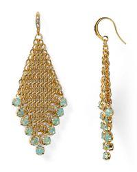 ABS By Allen Schwartz | Metallic Chainmail Earrings | Lyst