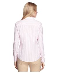 Brooks Brothers | Pink Non-iron Fitted Stripe Dress Shirt | Lyst