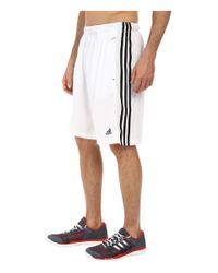 Adidas Originals - White Essential 3s Shorts for Men - Lyst