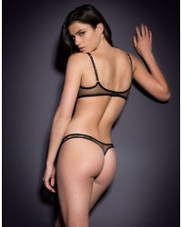 Agent Provocateur - Natural Sylvea Thong Nude/black - Lyst