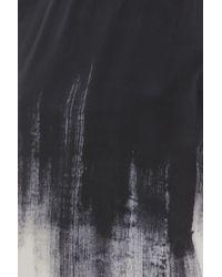 Vince - Black Brush Shadow Print Top - Lyst