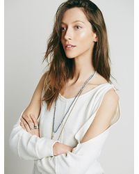 Free People | Natural Womens Cold Shoulder Pullover | Lyst