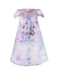 By Sun | Pink Shoulder Pleats A-line Dress | Lyst