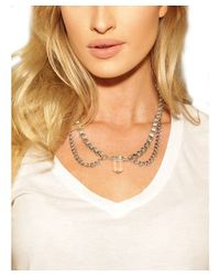 Natalie B. Jewelry - Metallic Natalie B. Crystal Healer Necklace In Silver/clear - Lyst