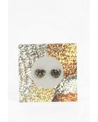 Urban Outfitters - Metallic Metal Heart Gift Card Earring - Lyst