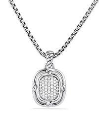 David Yurman | Metallic Labyrinth Small Pendant With Diamonds | Lyst