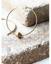 Free People | Metallic Lauren Hill Womens Channel Hoop Earrings | Lyst