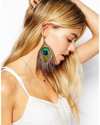 ASOS | Multicolor Peacock Feather Ear Cuff | Lyst