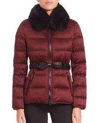 Burberry Brit - Black Redbourne Fur-collar Puffer Coat - Lyst