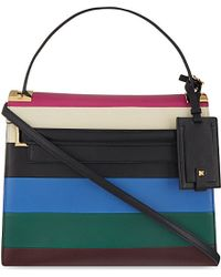 Valentino | Multicolor My Rockstud Striped Leather Satchel Bag - For Women | Lyst