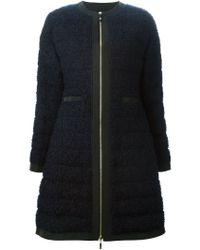 Moncler Gamme Rouge - Blue Panelled Coat - Lyst