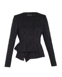 Proenza Schouler - Black Peplum Crepe Jacket - Lyst
