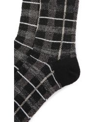 Anonymous Ism - Black Wool Check Crew Socks for Men - Lyst