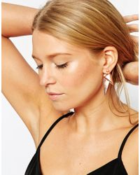 ASOS | Metallic Statement Triangle Swing Earrings | Lyst