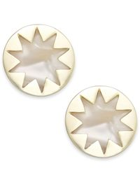 House of Harlow 1960 | Natural Gold-tone Imitation Pearl Sunburst Stud Earrings | Lyst