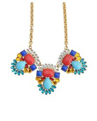 Kenneth Jay Lane - Metallic Gold And Crystal Statement Necklace - Lyst