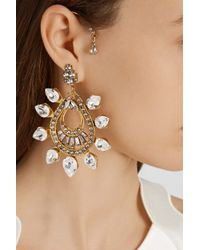 Erickson Beamon - Metallic Hung Up Gold-Plated Swarovski Crystal Earrings - Lyst
