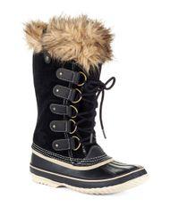 Sorel | Black Faux Fur-lined Joan Of Arctic Boots | Lyst