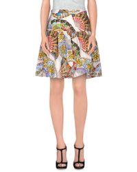 Dolce & Gabbana - White Knee Length Skirt - Lyst