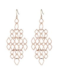 Alexis Bittar | Metallic Liquid Rose Gold Barbed Chandelier Earring | Lyst