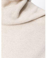 Lanvin - Natural Belted Dress - Lyst