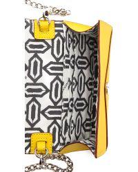 Rebecca Minkoff - Yellow Mini Wallet On A Chain Black - Lyst