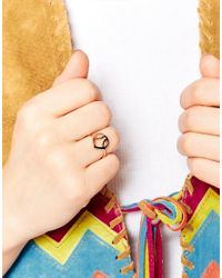 Daisy London | Orange Exclusive Laura Whitmore Rose Gold Plectrum Ring | Lyst