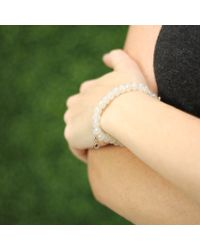Sydney Evan | Metallic Teardrop Evil Eye Beaded Bracelet | Lyst
