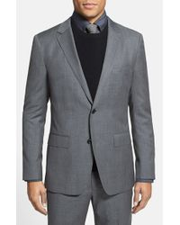 Bonobos | Gray 'foundation' Trim Fit Wool Blazer for Men | Lyst