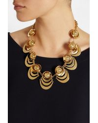 Lele Sadoughi - Metallic Orbit Gold-Plated Necklace - Lyst