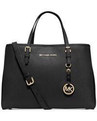 Michael Kors | Black Michael Jet Set Travel Medium East West Tote | Lyst