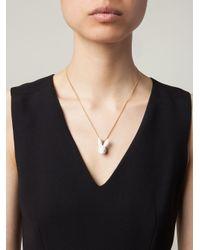 Andres Gallardo - White Rabbit Head Pendant Necklace - Lyst