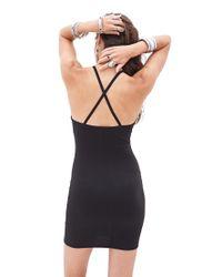 Forever 21 - Black Crocheted Halter Dress - Lyst