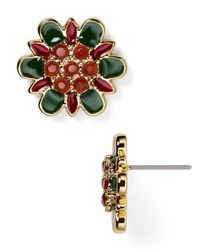 kate spade new york | Multicolor Enamel Stud Earrings | Lyst
