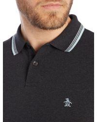 Original Penguin - Gray Due Short Sleeve Polo Shirt for Men - Lyst