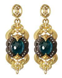 Armenta | London Blue Topaz Doublet Scroll Earrings | Lyst