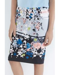 Oasis - Multicolor Oriental Blossom Pencil Skirt - Lyst