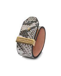 Kurt Geiger   Gray Leather Pin Bar Bracelet for Men   Lyst